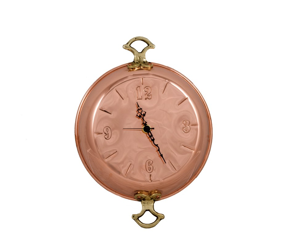 Copper Items - Copper Hanging Pan Clock