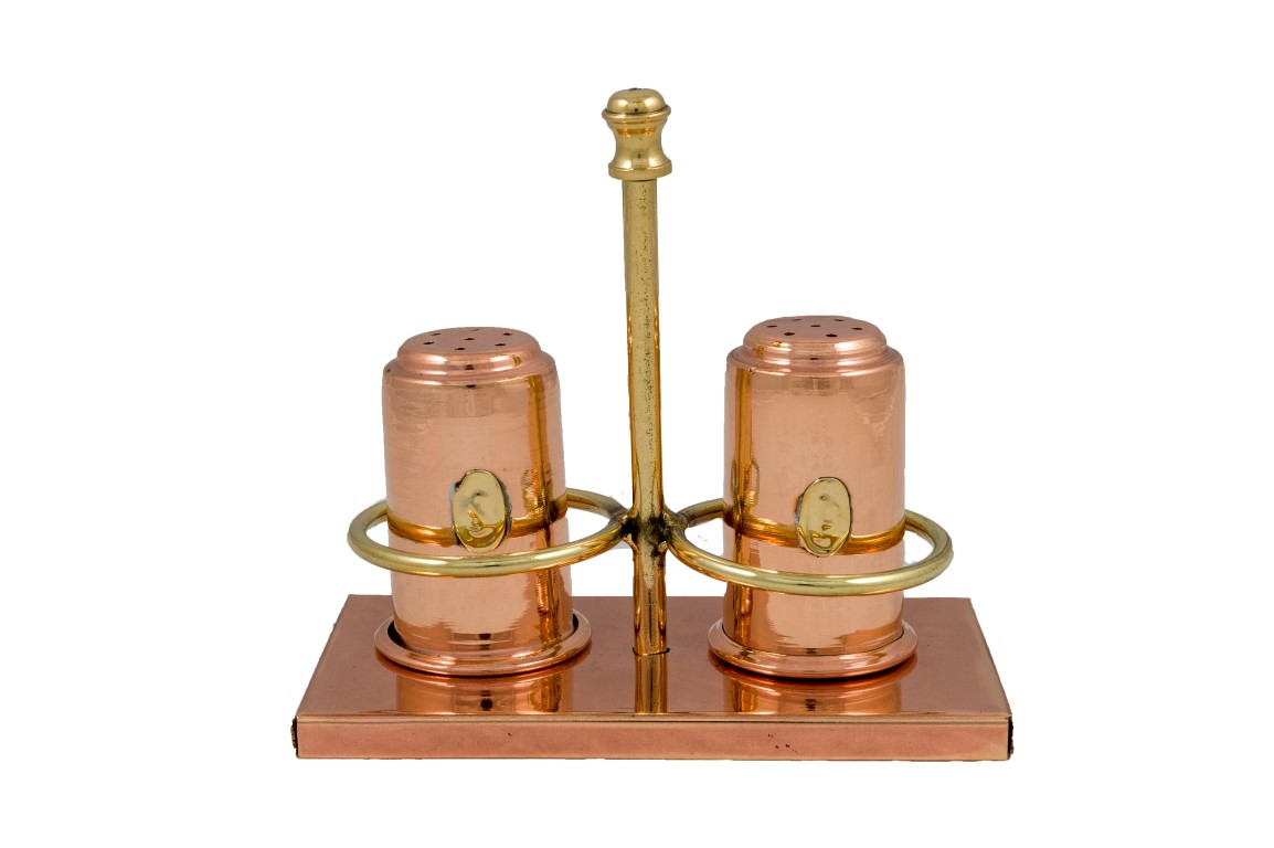 Copper Items - Copper Salt and pepper set simple & with base