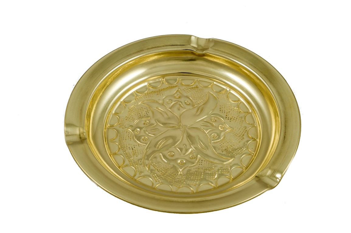 Brass Items - Brass Ashtray Engraved