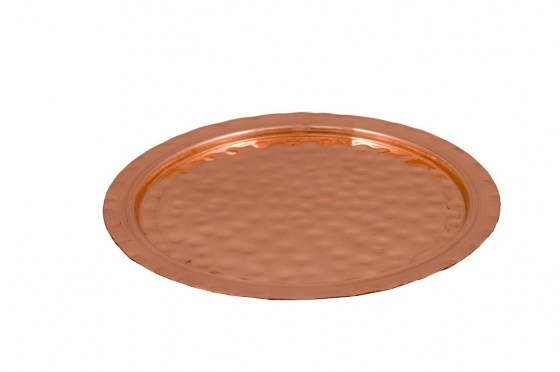 Copper Items - Copper Hammered and Engraved Tray