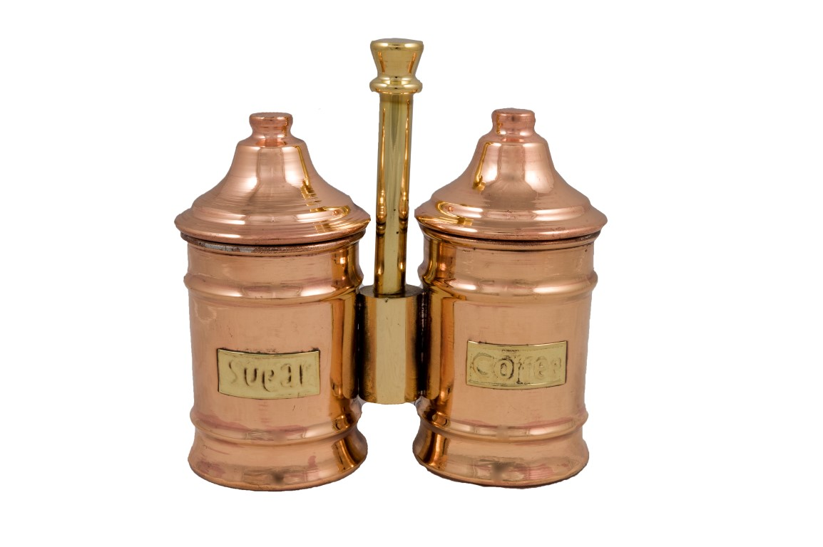 Copper Items - Copper Sugar Pot Double