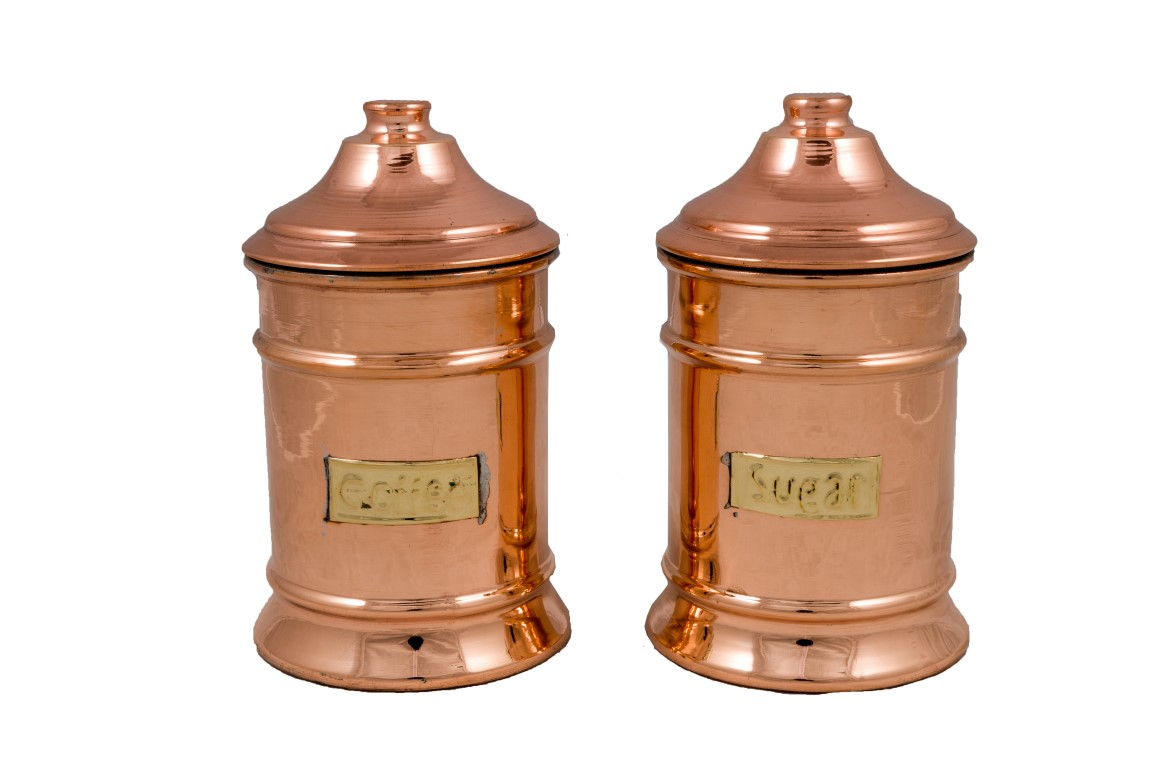Copper Items -Copper Sugar Pots Single
