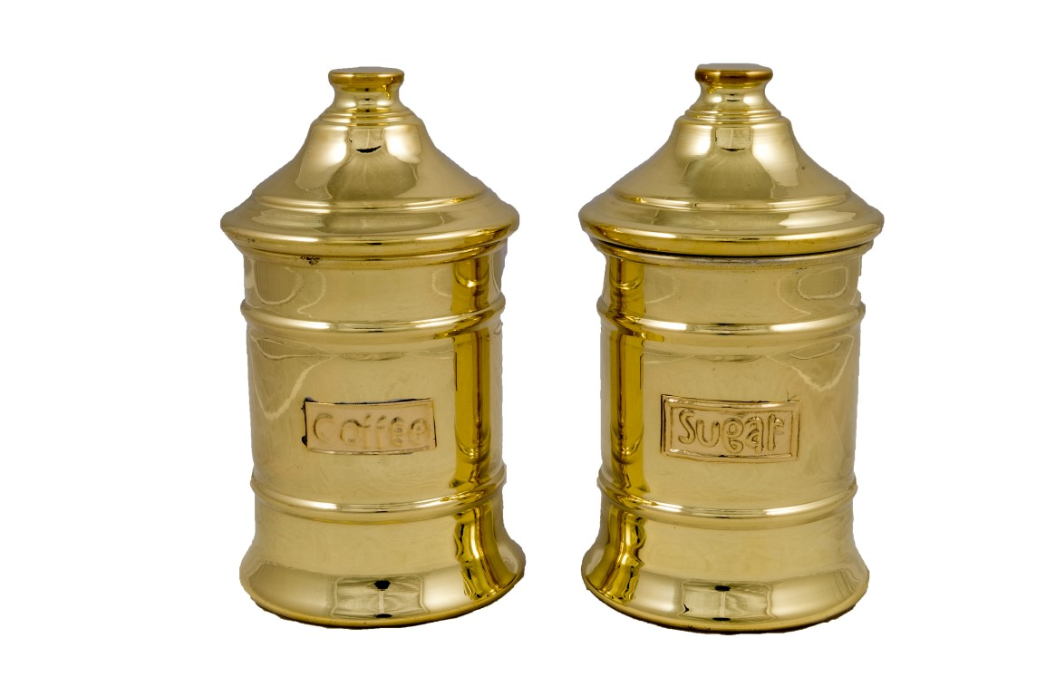 Brass Items - Brass Sugar Pots Single